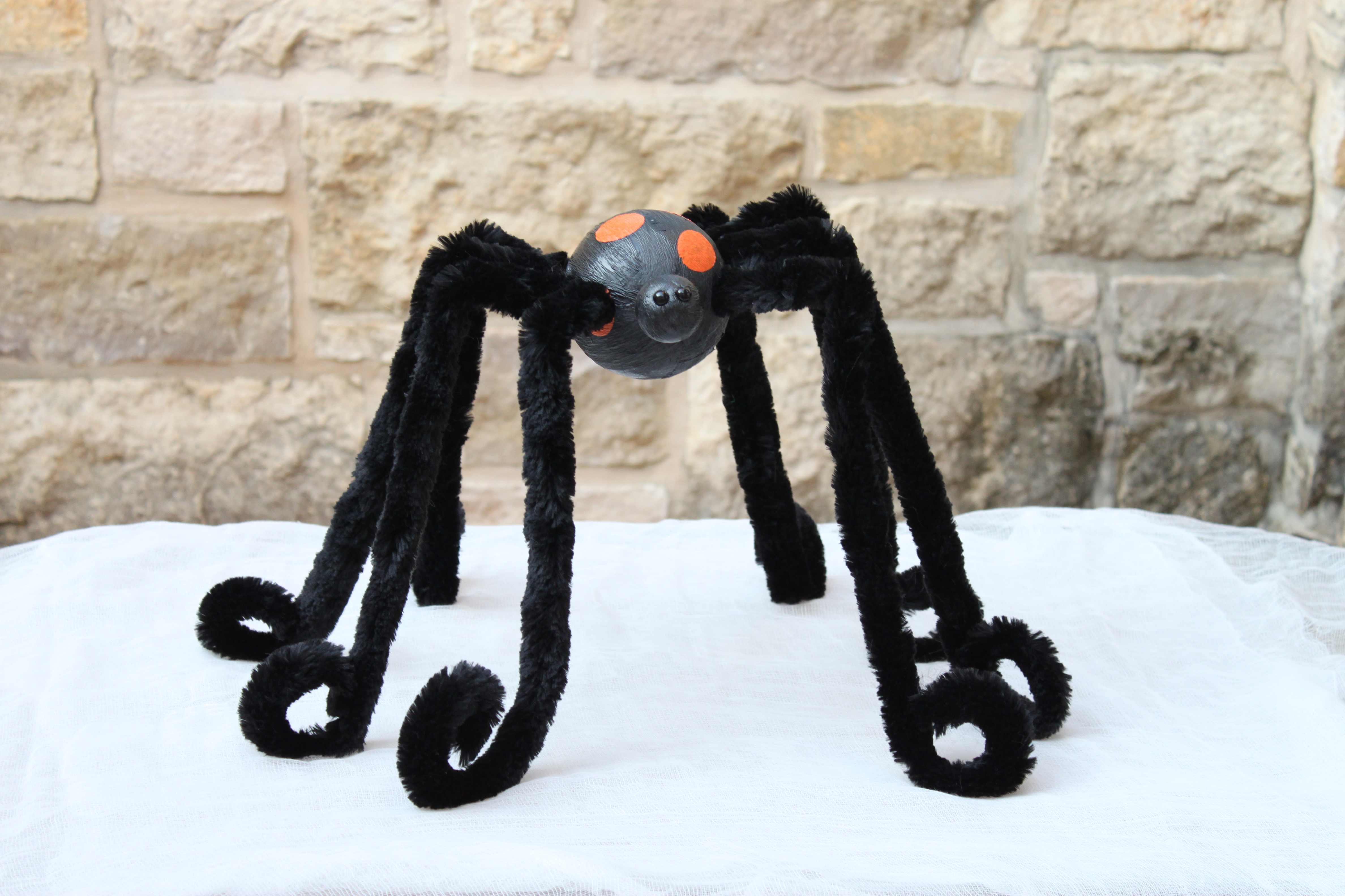 Spider Craft Tutorial Large Spider Decor