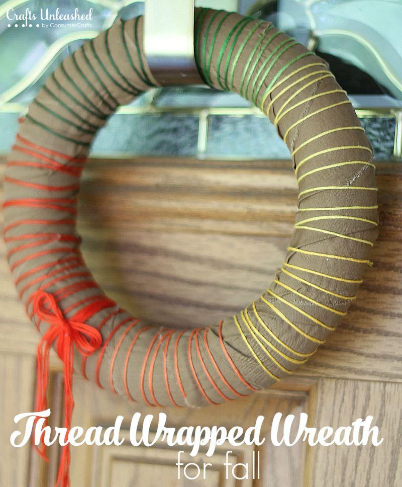 Thread Wreath DIY Fall Themed
