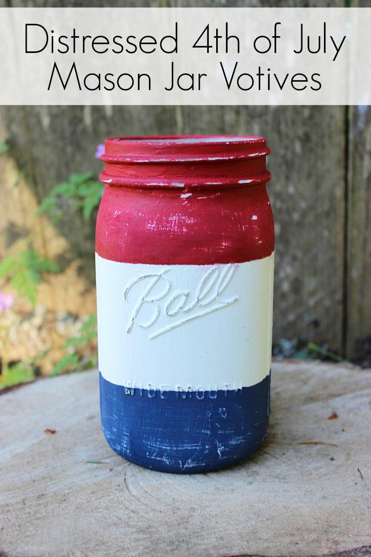 Rustic 4th of July Mason Jar