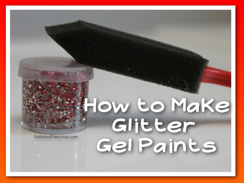 How to Make Glitter Gel Paints