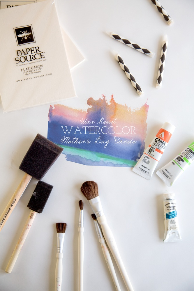 Make this Wax Resist Watercolor Mother's Day Card