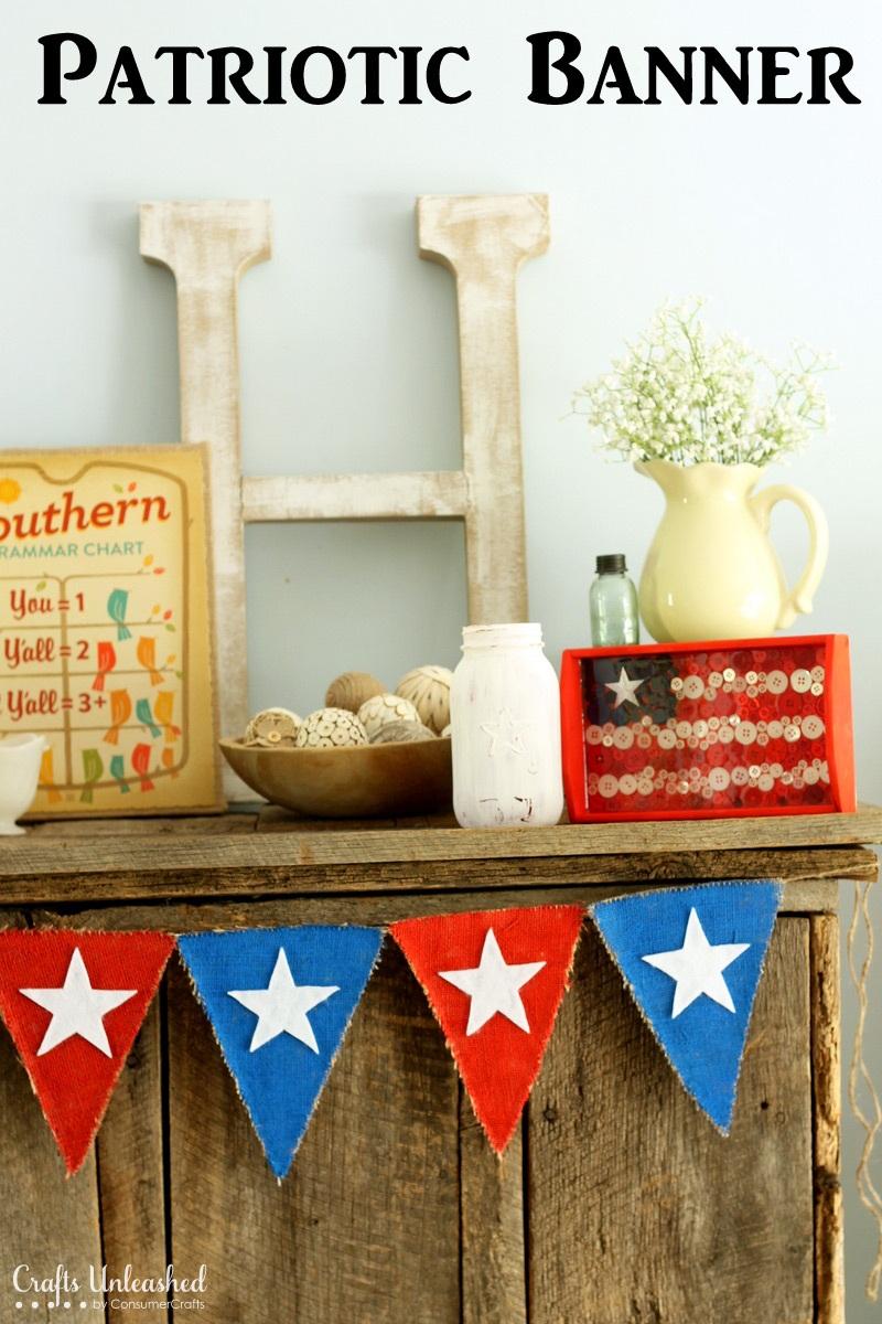 Fourth of July DIY Burlap Banner Tutorial