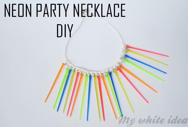 Neon party necklace DIY