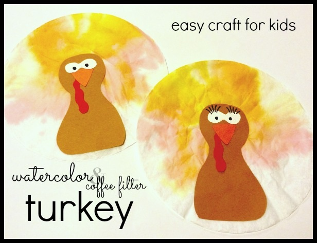 Simple Festive Watercolor Turkey Craft For Kids
