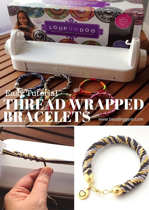 Easy and Fast Way to Make Thread Wrapped Bracelets