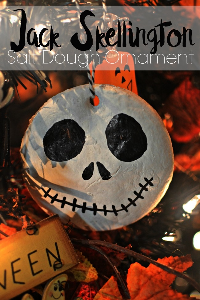 Jack Skellington Salt Dough Ornament