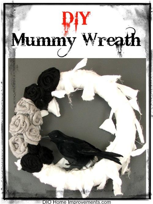 DIY Mummy Wreath