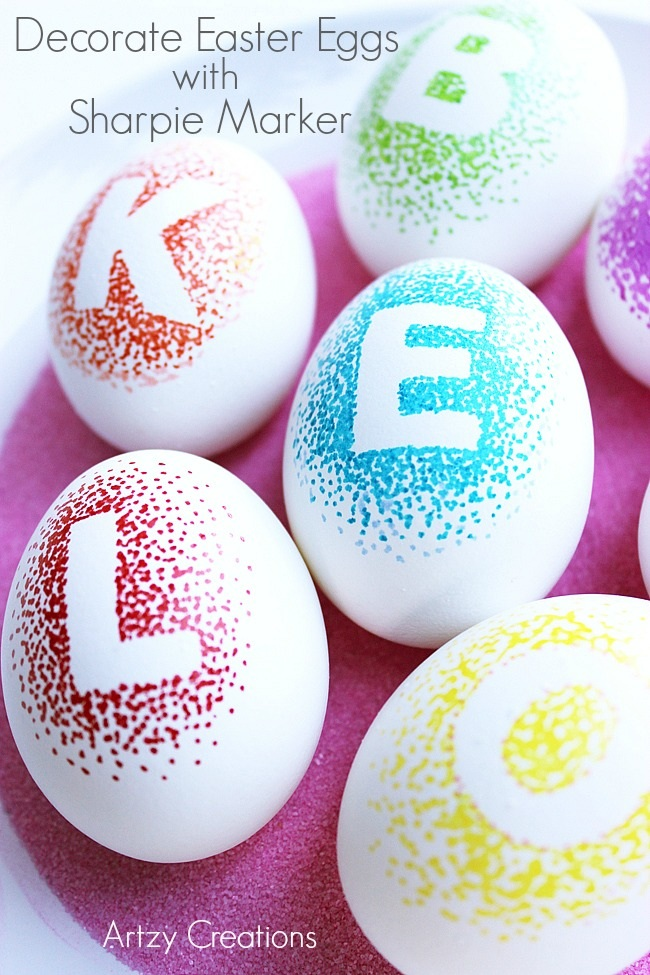Decorate Easter Eggs With Sharpie Markers