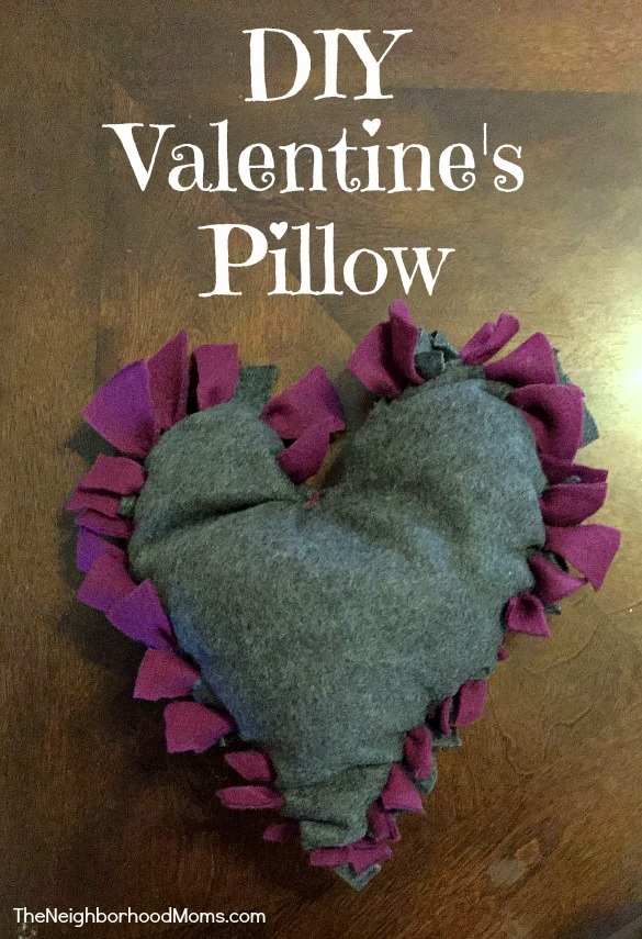 DIY Heart Valentine Pillows