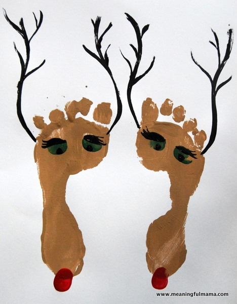 Reindeer Foot Prints for Christmas