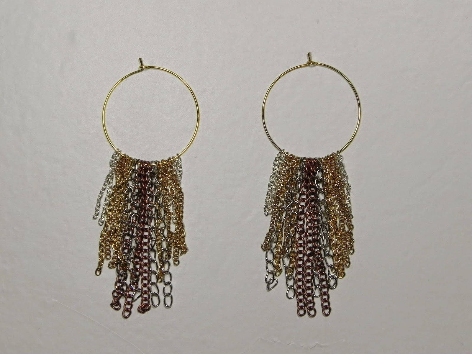 Smart n snazzy: DIY ~ chain fringe earrings