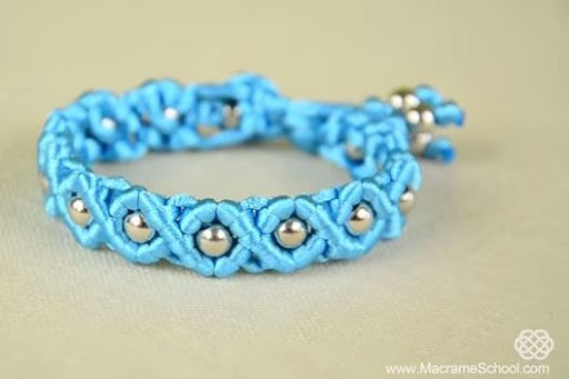 Easy Satin Cord Wave Macrame Bracelet Tutorial