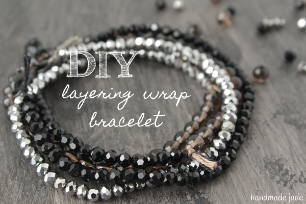 DIY layering wrap bracelet