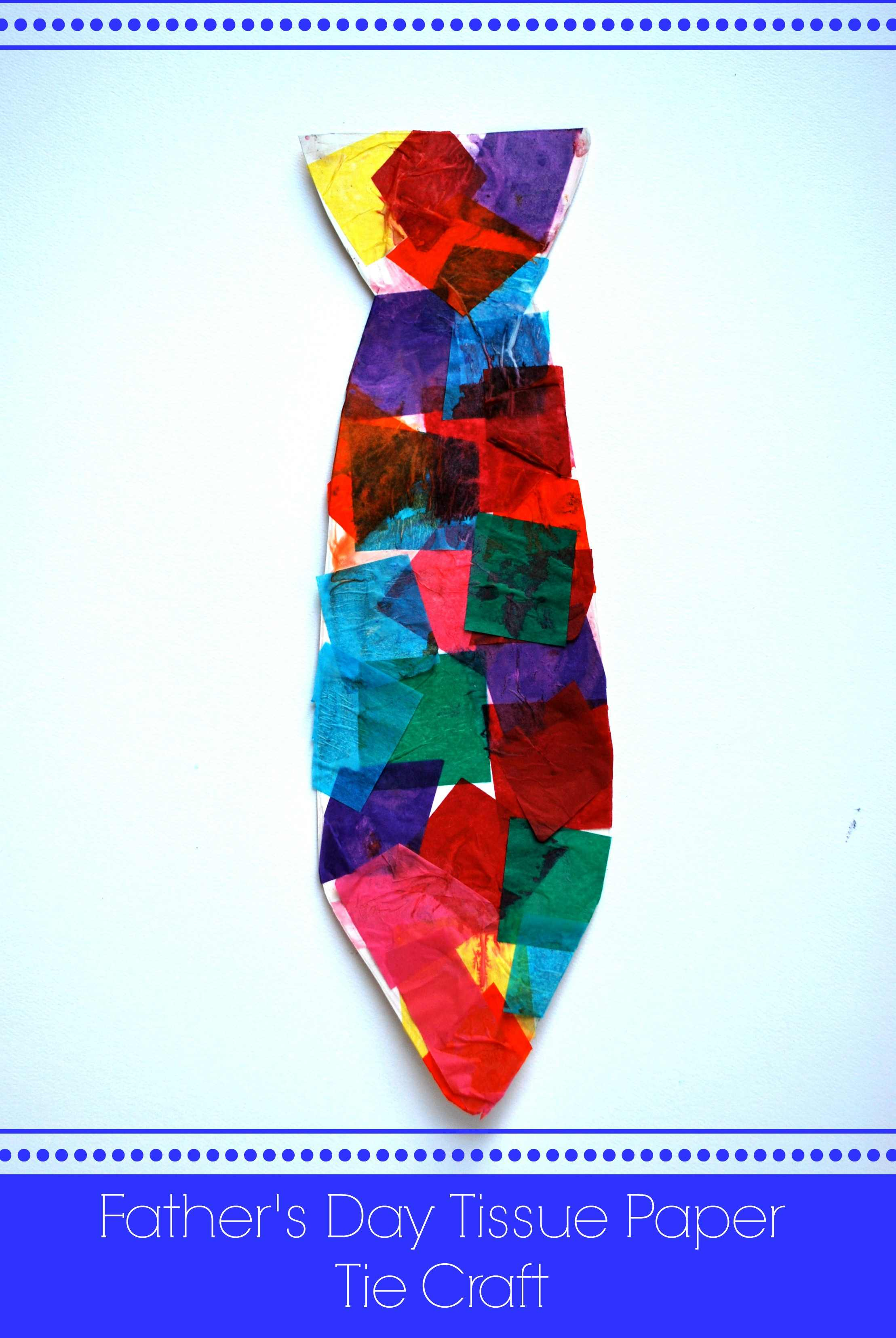 Father's Day Tissue Paper Tie Craft