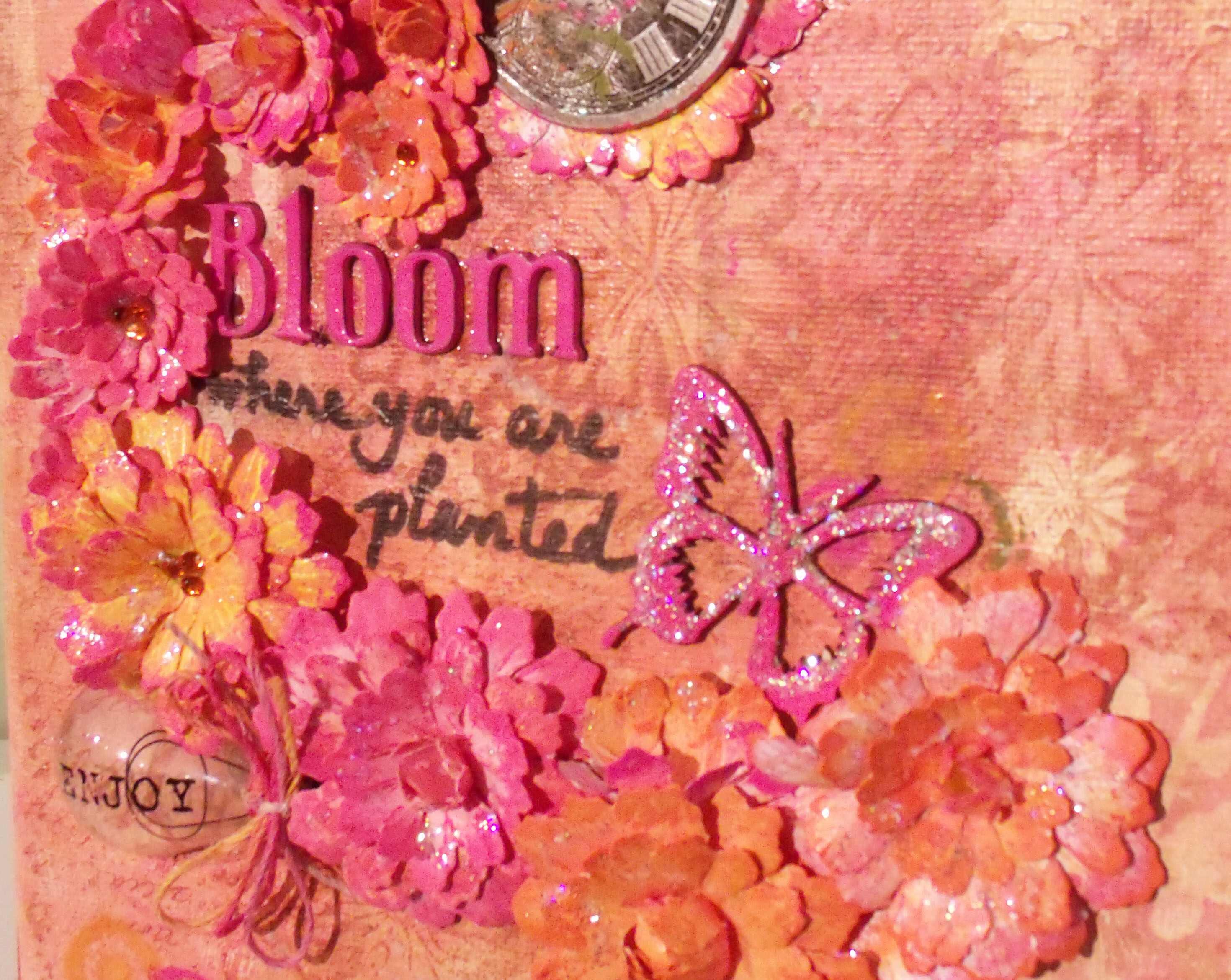Bloom Where You are Planted Mixed Media Canvas