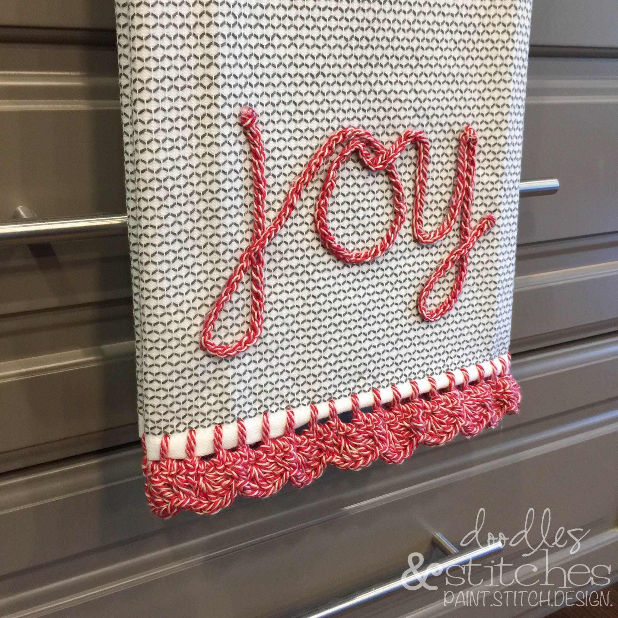 Crocheted Edge Towel Tutorial