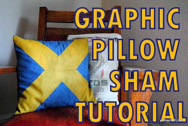 How to Make a Graphic Pillow Sham