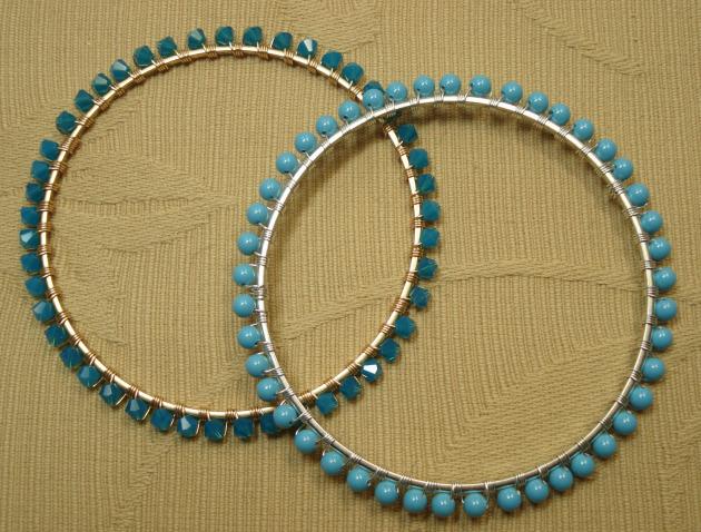 DIY -bead studdedbangle