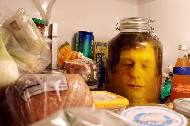 Halloween Decor Head in a jar