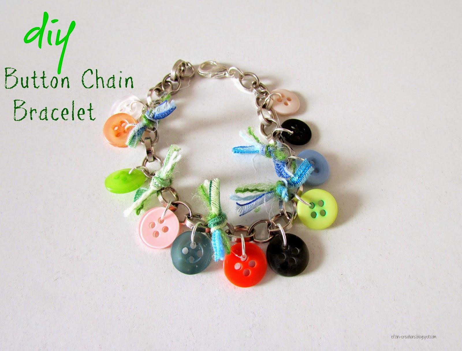 Button chain bracelet