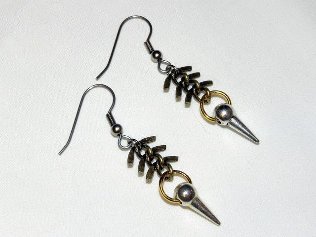 Smart n snazzy: DIY fishbone n spike earrings