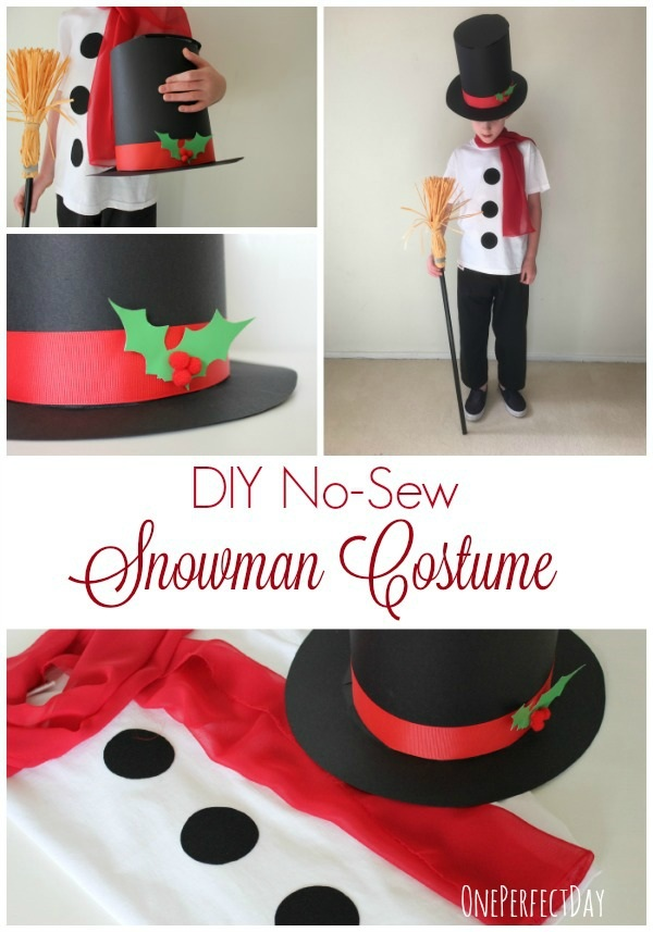 No Sew Snowman Costume for Kids