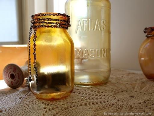 Etceteras DIY Faux Amber Glass