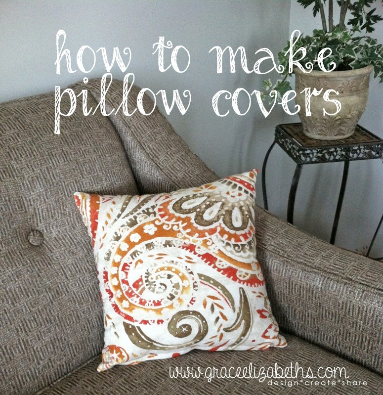 How to Make Awesome Pillow Covers