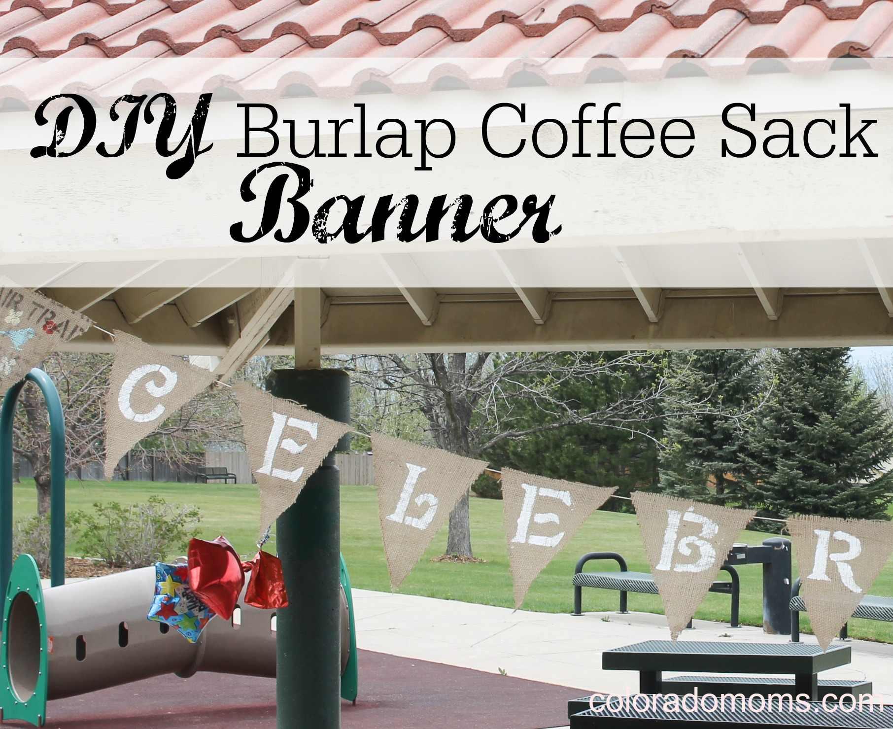 DIY Burlap Coffee Sack Banner {Tutorial}