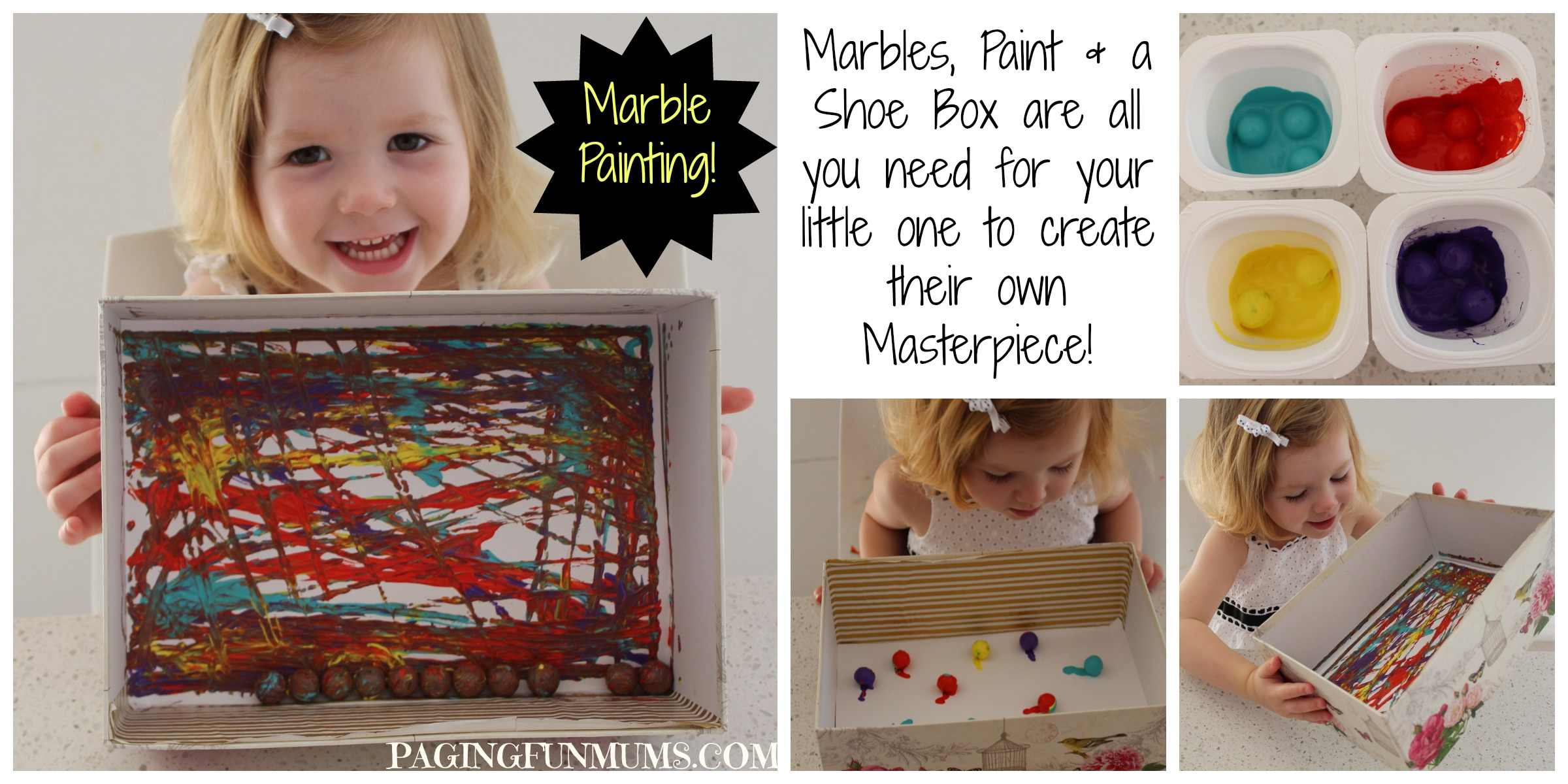 Painting with Marbles to create a MASTERPIECE