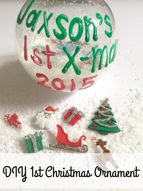 DIY Baby's First Christmas Ornament #Craft