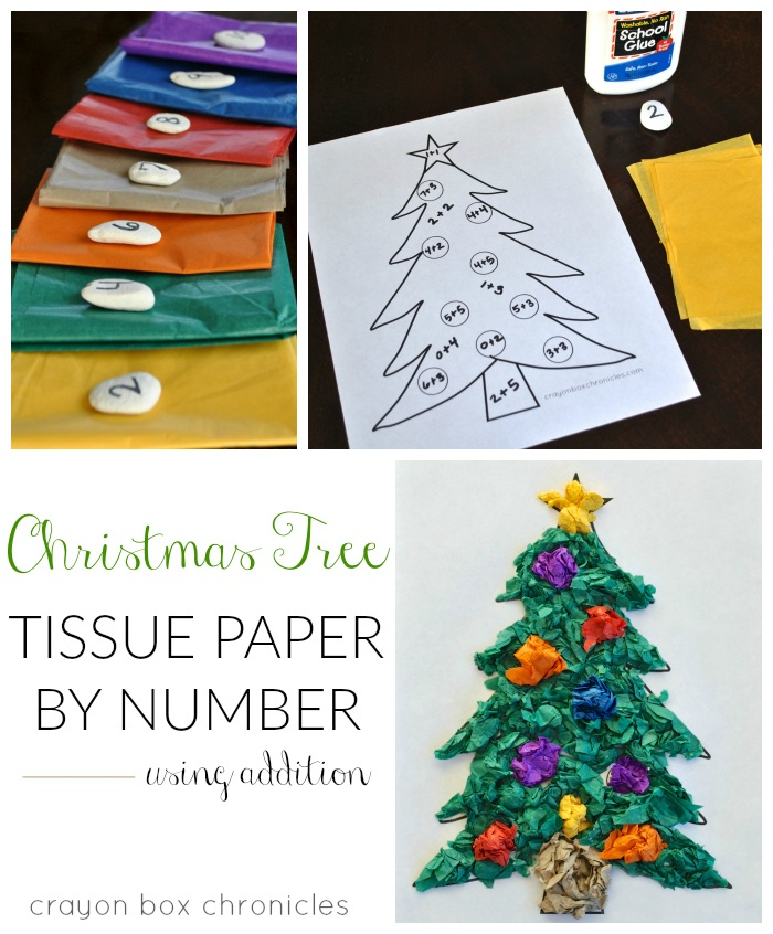 Christmas Tree Tissue Paper Craft