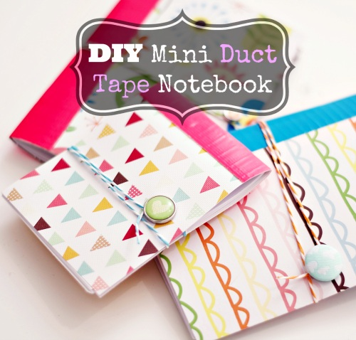 DIY Mini Pattered Notebook