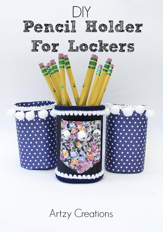 DIY Pencil Holder For Lockers