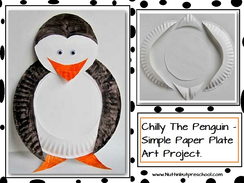 Chilly The Penguin Paper Plate Art Project & Chilly The Penguin Paper Plate Art Project - CraftSmile