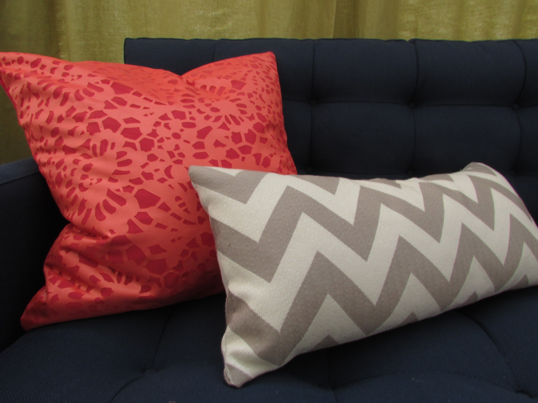 Look for Less Crate and Barrel Inspired Julian Orange Pillow