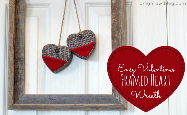 Easy Framed Heart Wreath
