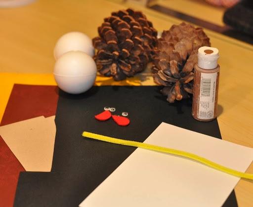Pine Cone Turkey Craft for Kids