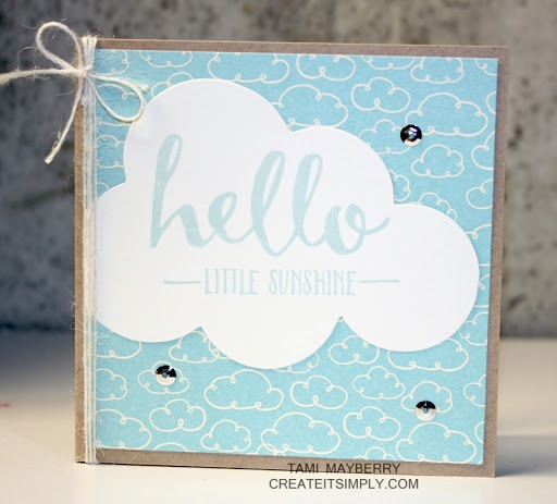 Hello Little Sunshine Card Create It Simply with Tami Mayberry