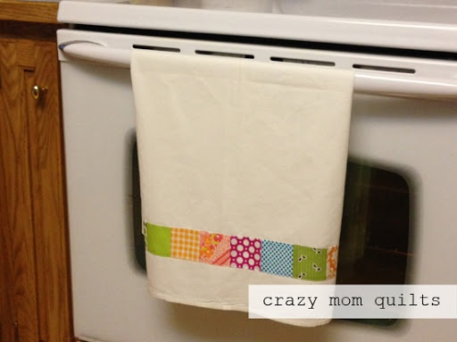 Simple patchwork dish towel tutorial