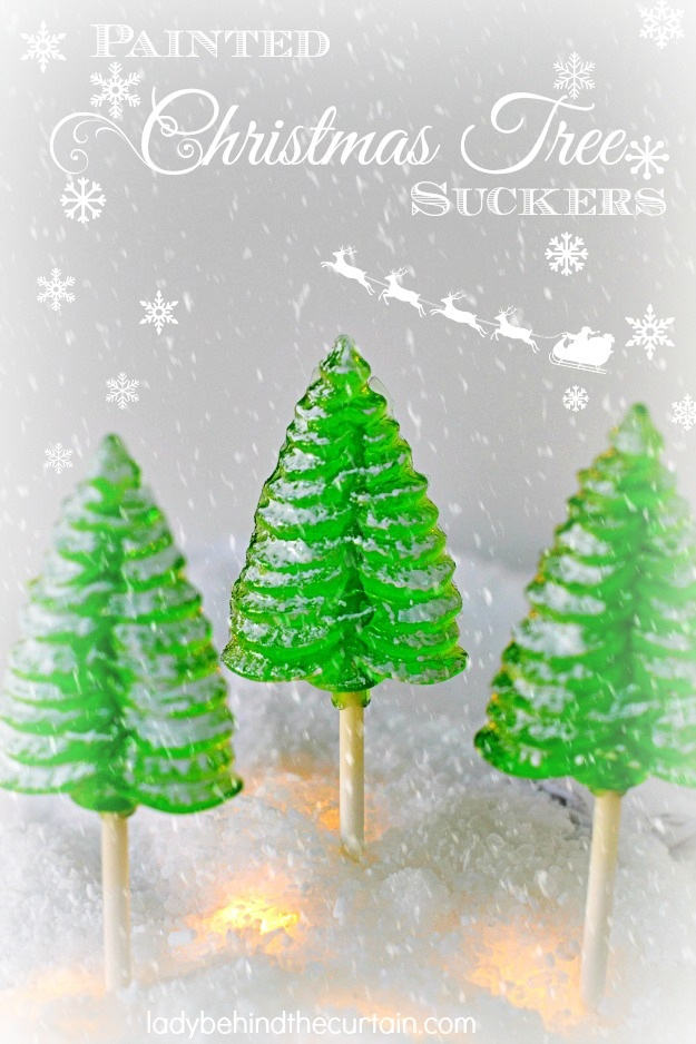 Painted Christmas Tree Suckers