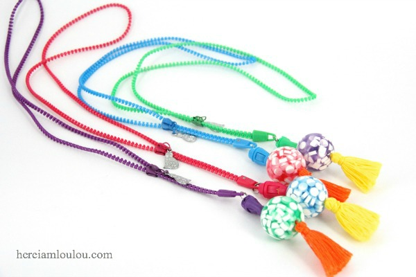 Diy: how to make officeworks stationery into neon necklaces