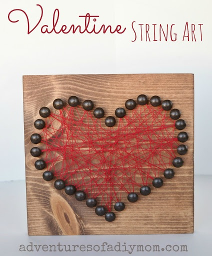 How to Make Valentines Heart String Art