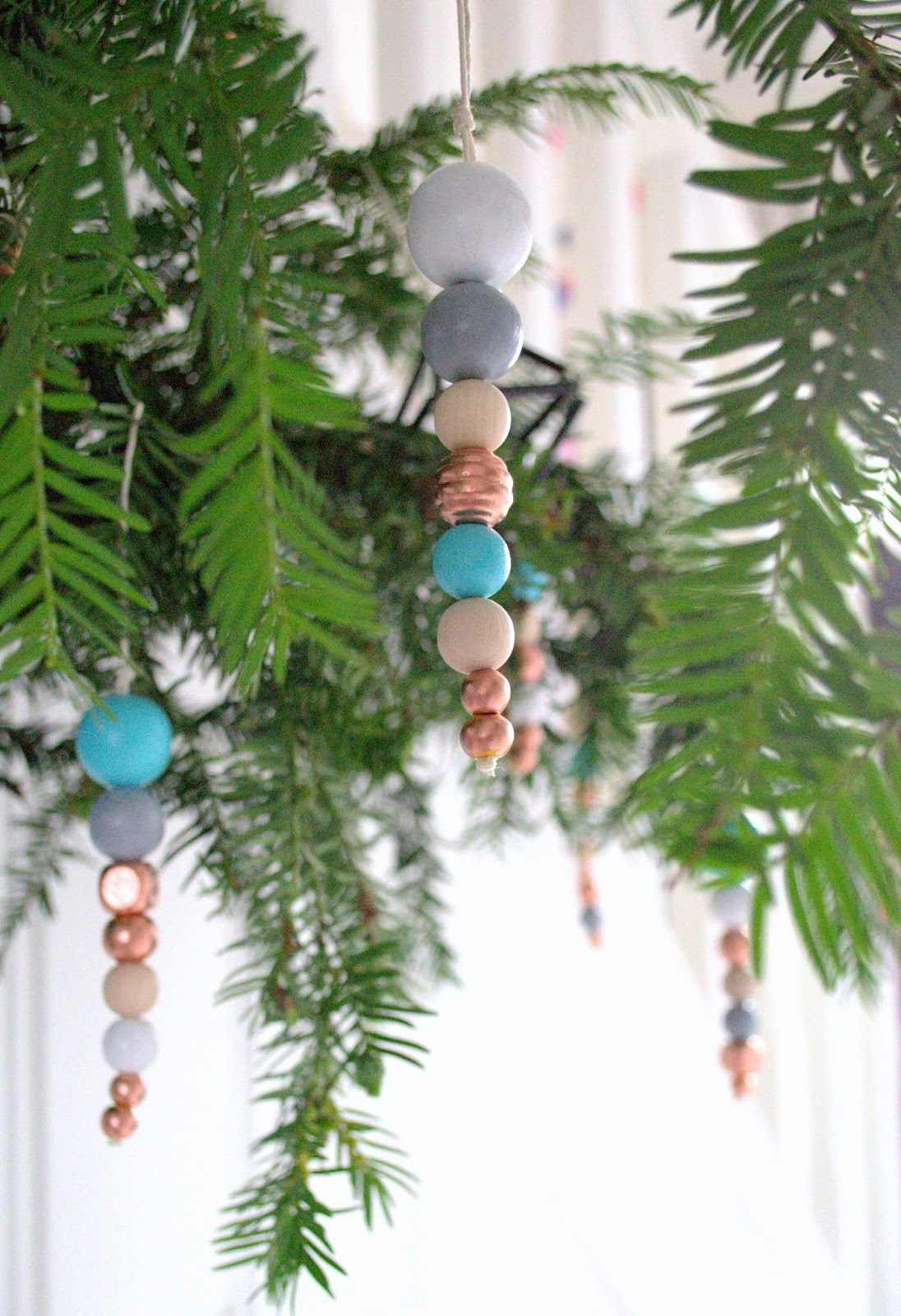 Easy beady tree decorations DIY
