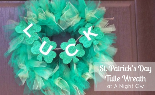Tulle St. Patrick's Day Wreath