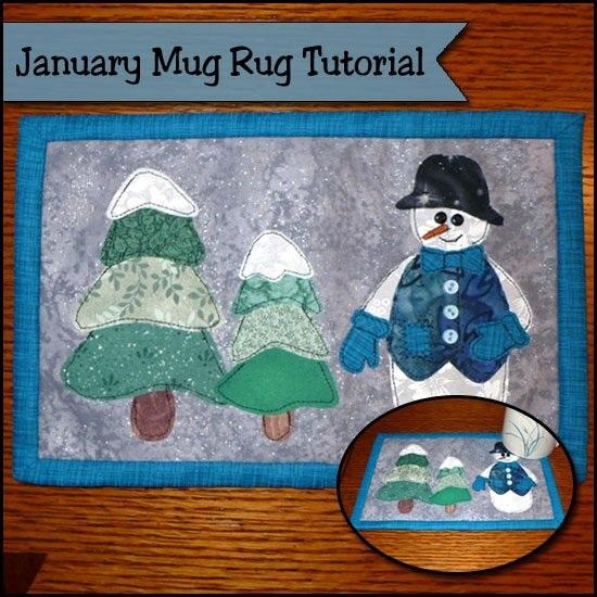 January Mug Rug Tutorial It's SNOW much fun! So Sew Easy