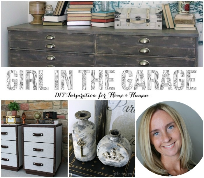 Easy Vintage Inspired Bottles with Girl in the Garage!