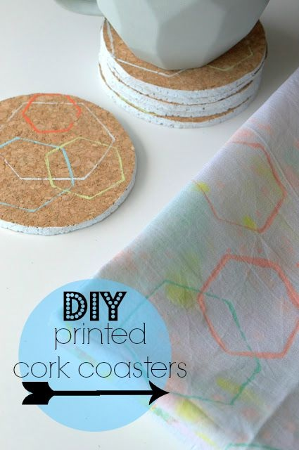 DIY print cork coasters