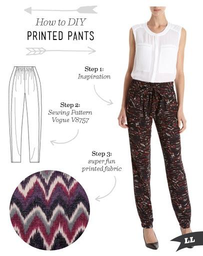 How to DIY Printed Pants