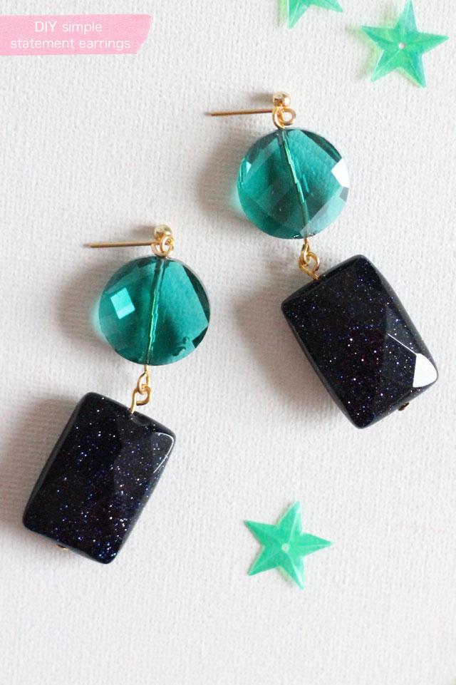 DIY - simple statement earrings